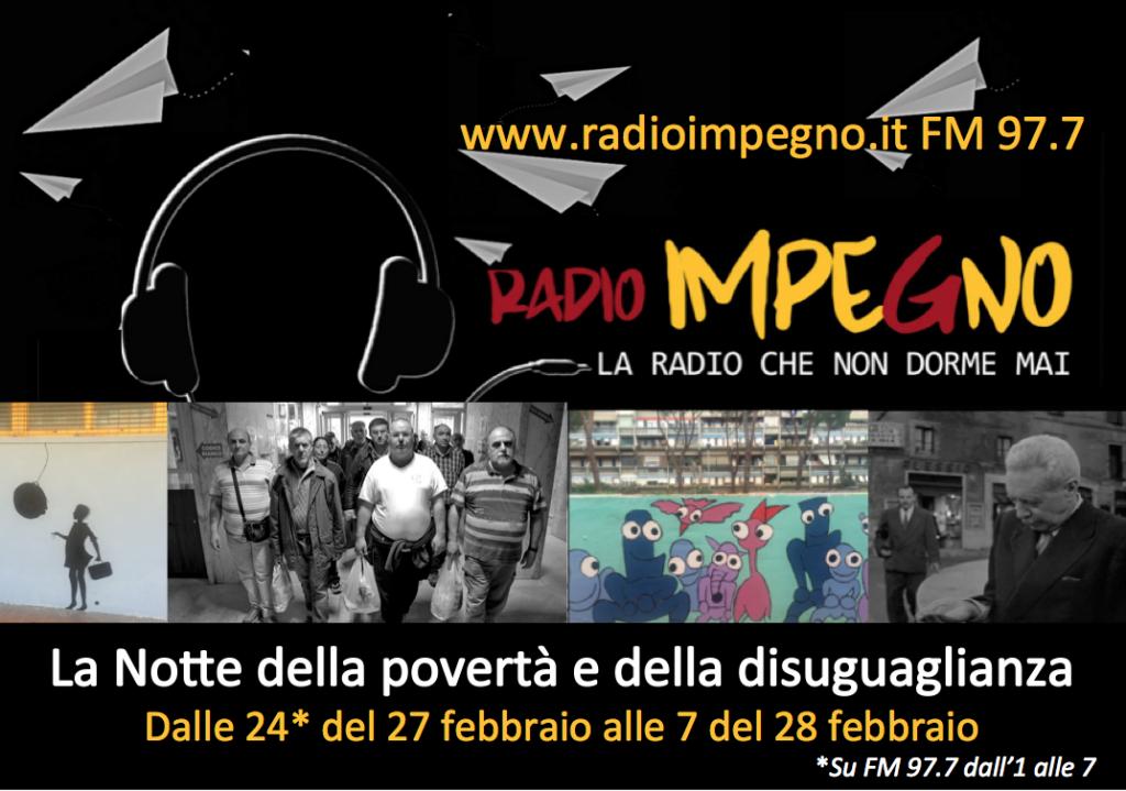 locandina radio notte poverta febbraio 2
