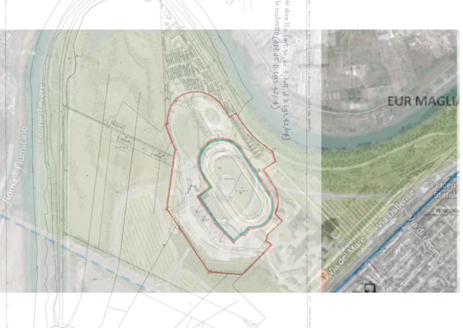simulazione area tutelata e progetto stadio
