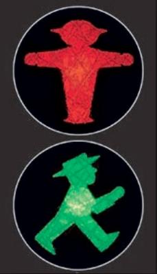 Il caratteristico semaforo pedonale nato a Berlino est negli anni 60 e diventato simbolo della città