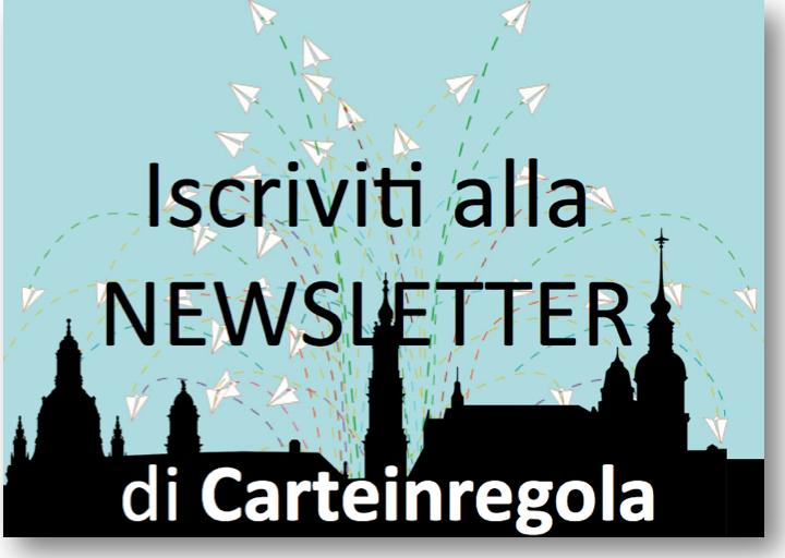 pulsante iscriviti newsletter