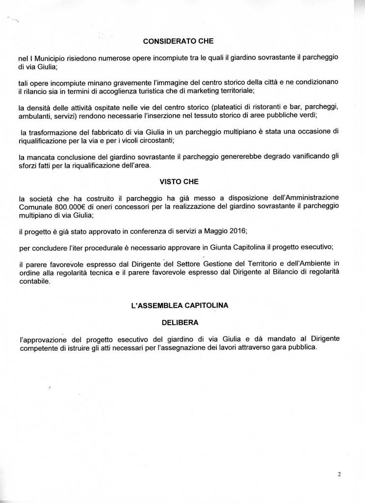 Via Giulia DeliBERA GIACHETTI 2