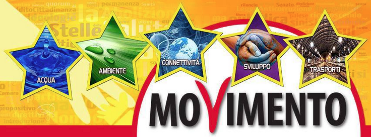 Logo con le  Cinque Stelle M5S