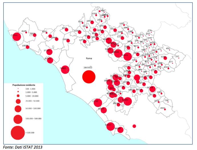 Roma città metropolitana popolazione