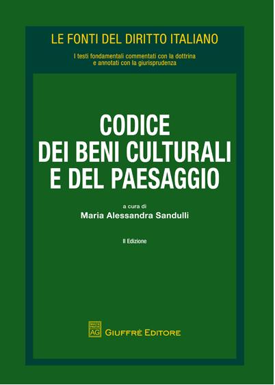 copertina codice beni culturali