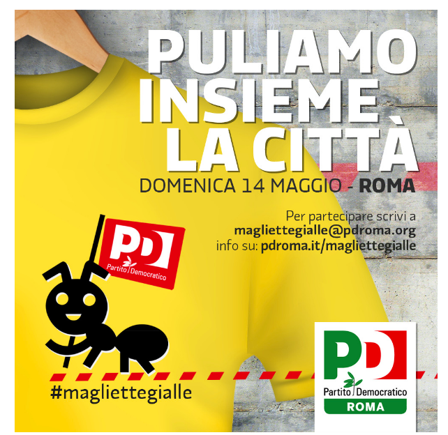 manifesto magliette gialle pd
