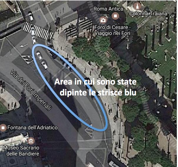 mappa parcheggio via dei fori