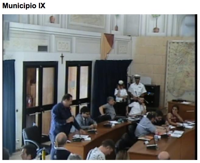 consiglio muncipale IX 101 giguno stadio IX municipio