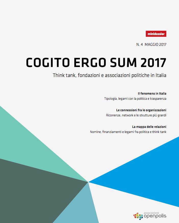 copertina dossier open polis cogito ergo sum 2017