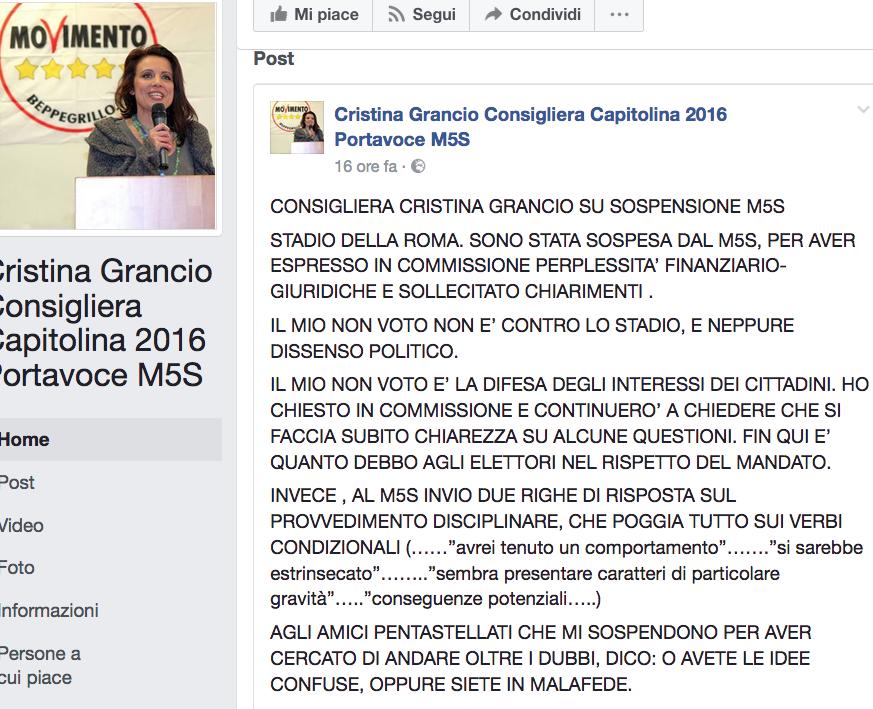 cristina Grancio fb Schermata 2017-06-10 alle 10.48.55