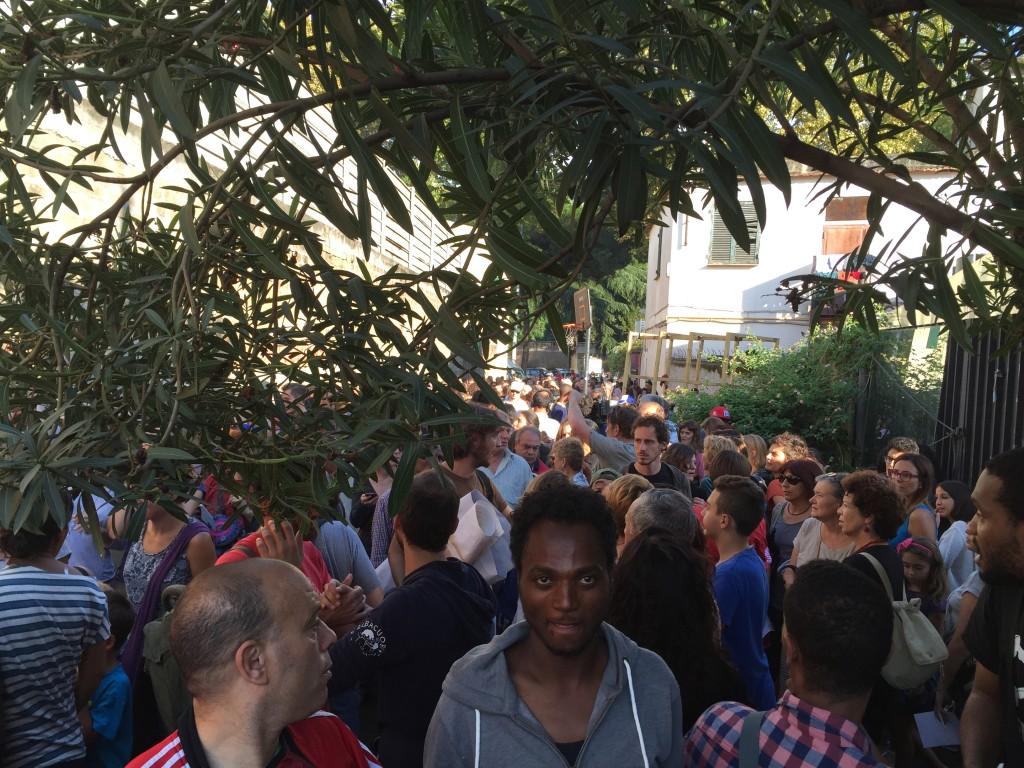 La marcia del settembre 2015 di solidarietà al Baobab