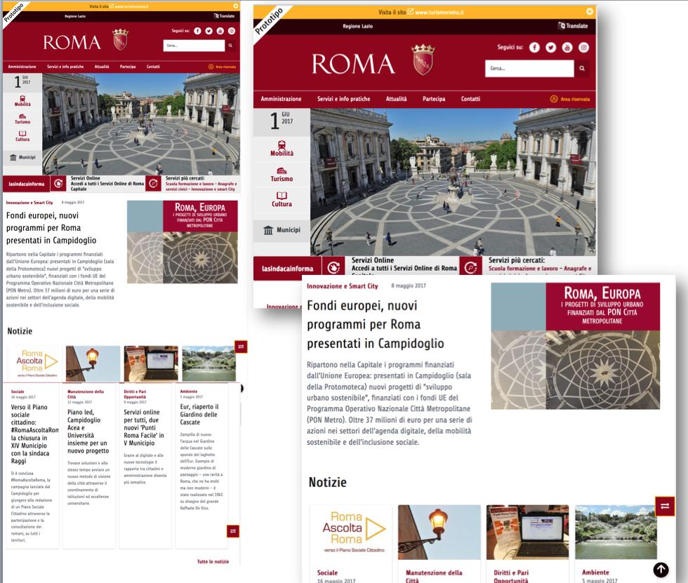 prototipo nuovo sito roma 1