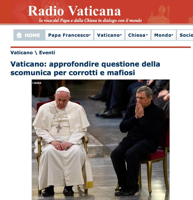 sito radio vaticana Papa e corruzione