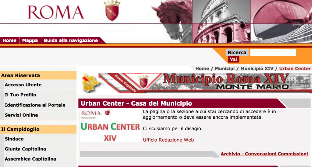 dal sito comune pagina urban center in costruzione XIV Mun