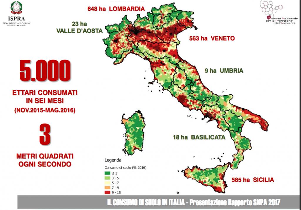 infografica ispra rapporto 2016