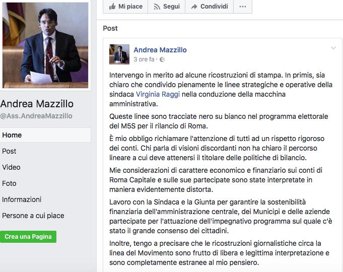 mazzillo fb commento 30 luglio 2017