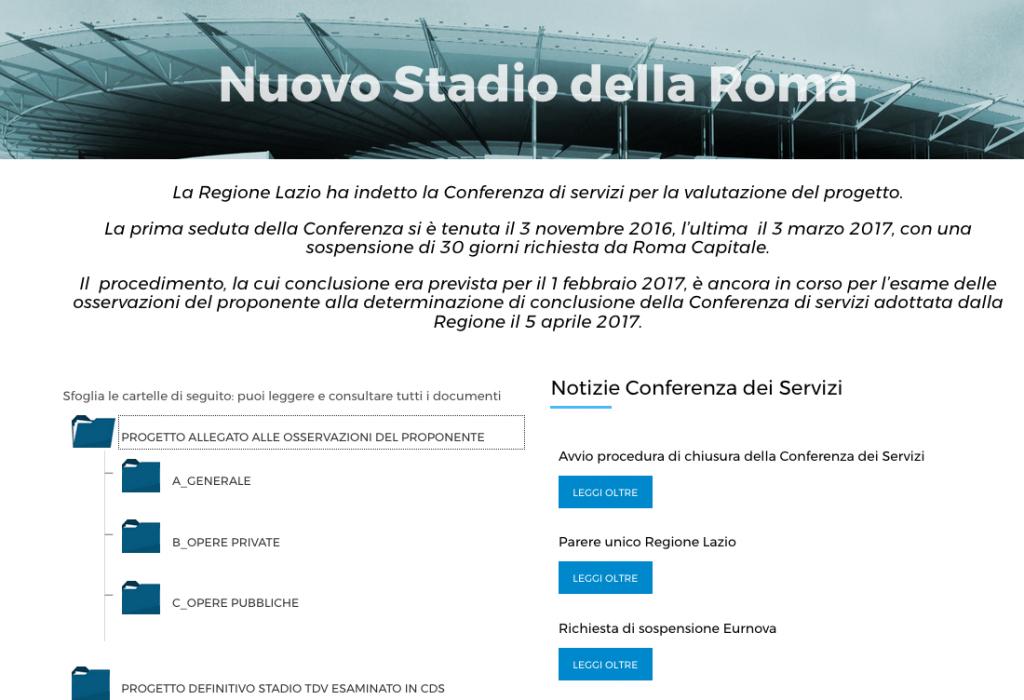 sito regione tarsparenza stadio Schermata 2017-08-05 alle 21.39.37