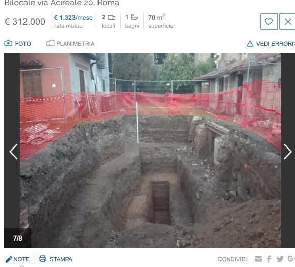 immagine dalla slideshow sul sito immobiliare che pubblicizza le nuove costruzioni