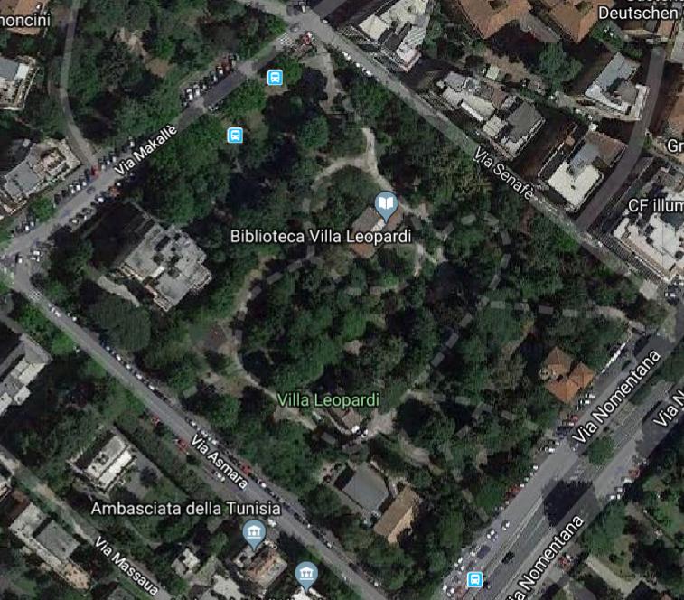 villa leopardi map