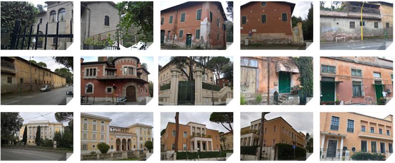 Foto di alcune proprietà comunali censite da Sinistra Unita nel II Municipio