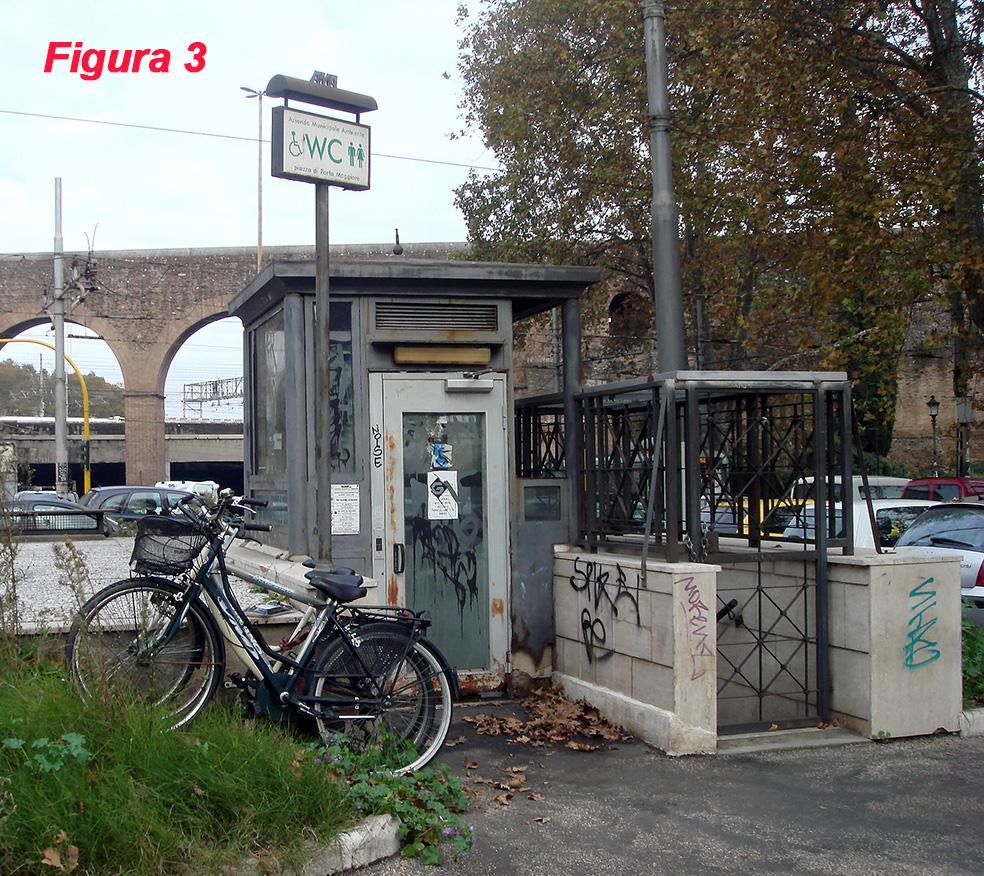 Fig. 3 Porta Maggiore Ubicazione degli impianti