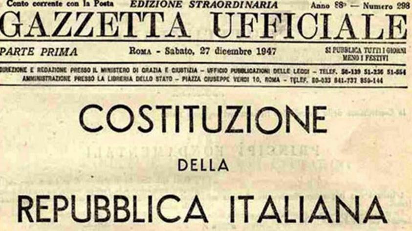gazzetta ufficiale costituzione italiana
