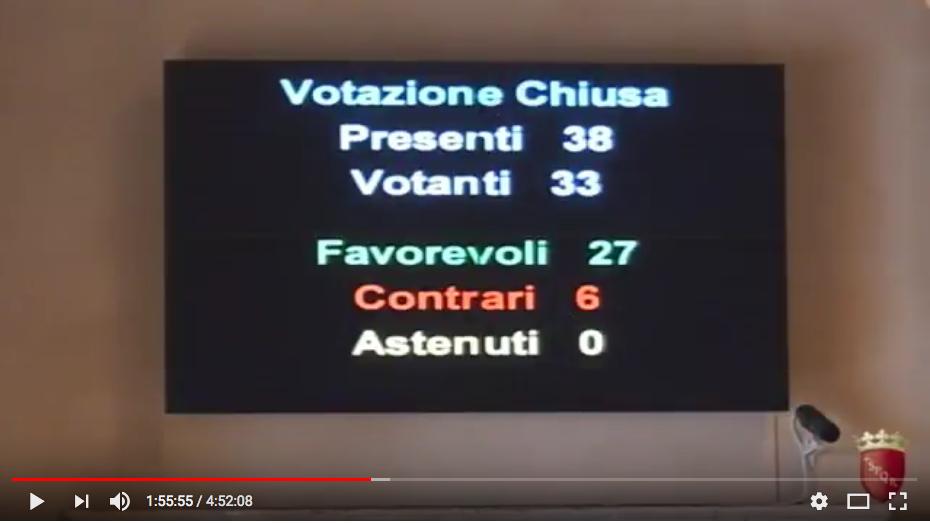 screen shot video aula III votazione statuto