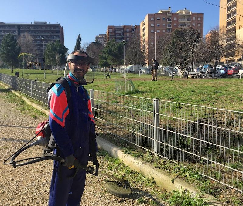 volontari associazione civica cura del verde parco cisterna romana IMG_3161
