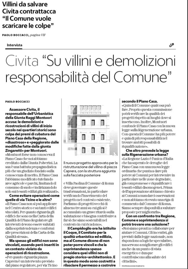 Civita Repubblica Piano casa 1 febbraio 2018