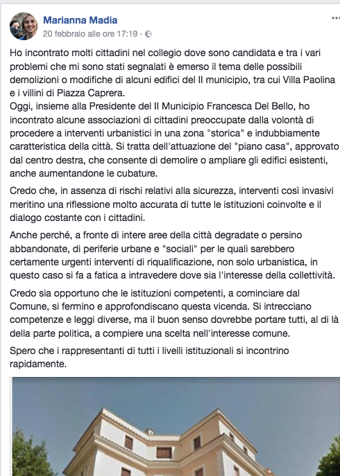 Fb Madia demolizione villini Schermata 2018-02-24 alle 11.45.04