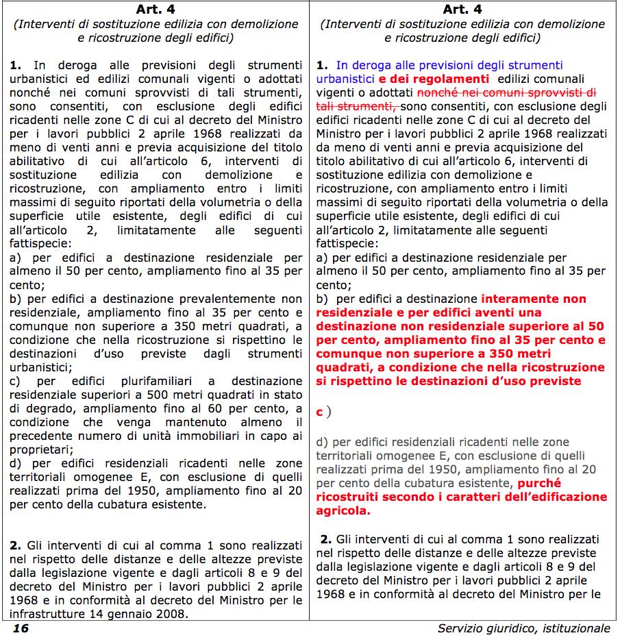 confronto art. 4 Polverini:Zingaretti 2