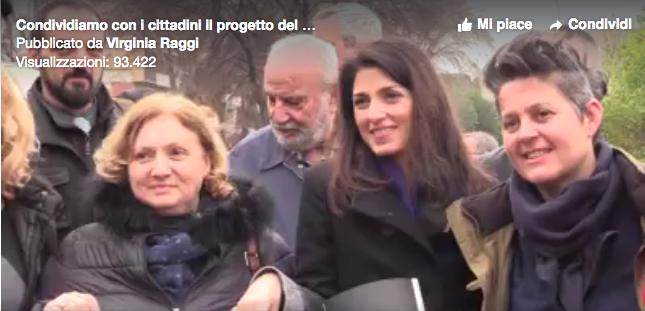 da video Raggi Fb viale leonardo da Vinci