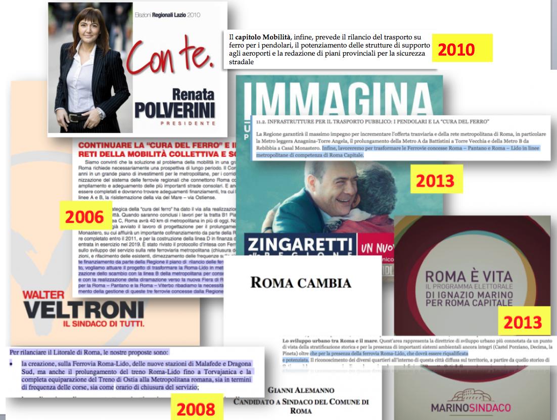 mix di programmi elettorali sulla Roma Lido