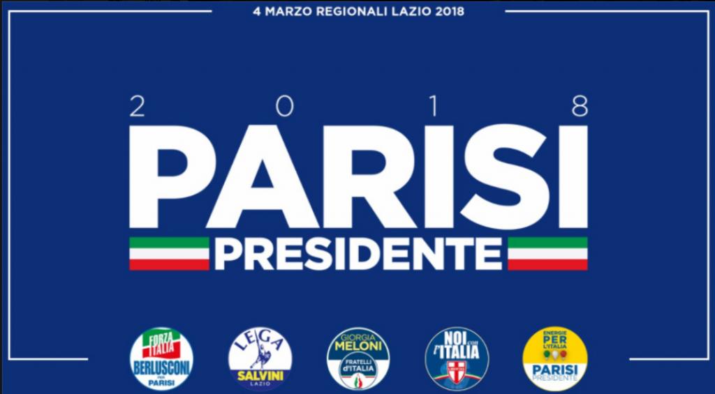 parisi logo con simboli lazio 2018