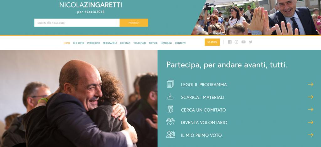 sito zingaretti 2018