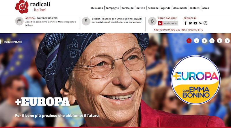 testata sito +europa radicali italiani