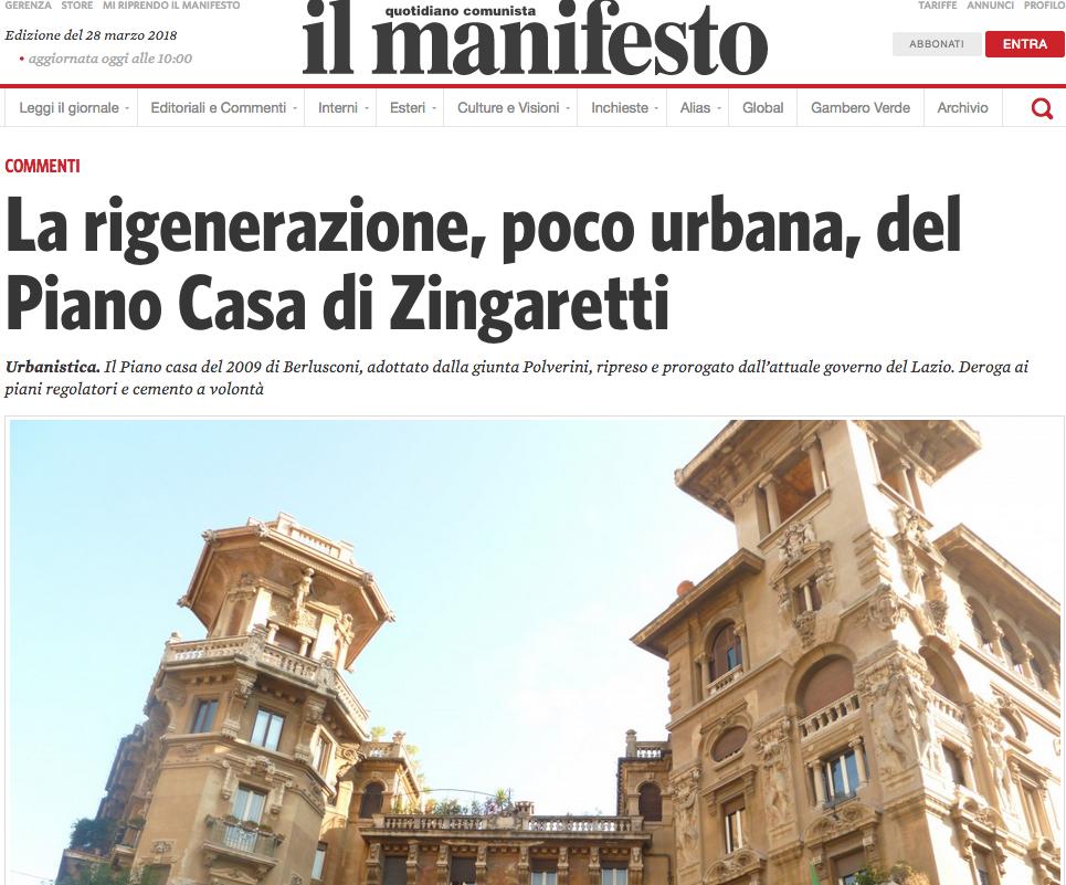Appello contro la rigenerazione poco urbana del piano for Progettista del piano di casa
