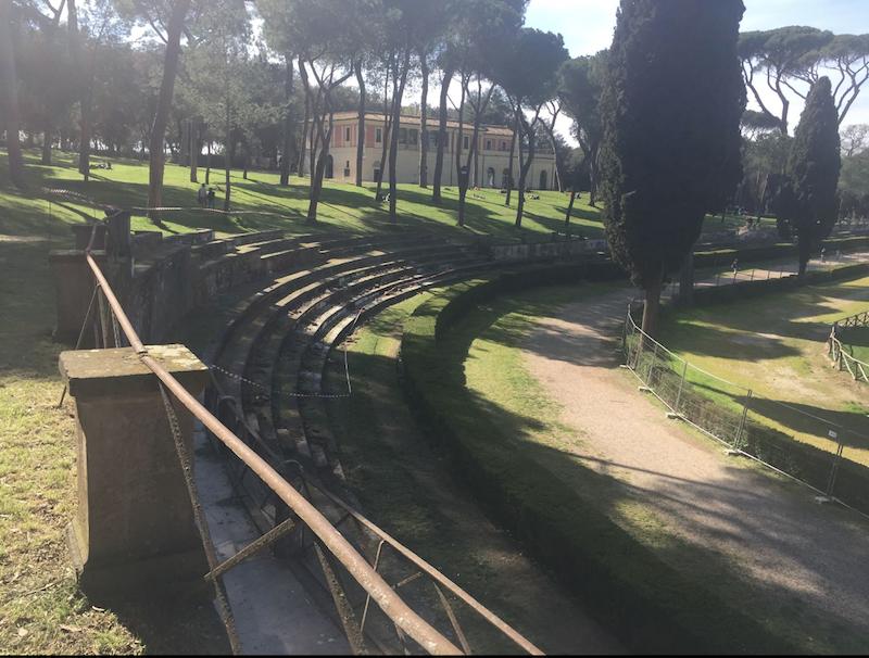 Piazza di Siena  Villa Borghese (foto ambm)