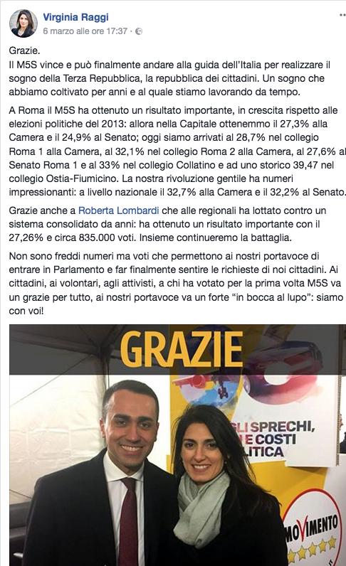 Raggi Fb elezioni 2018 Schermata 2018-03-08 alle 00.10.07