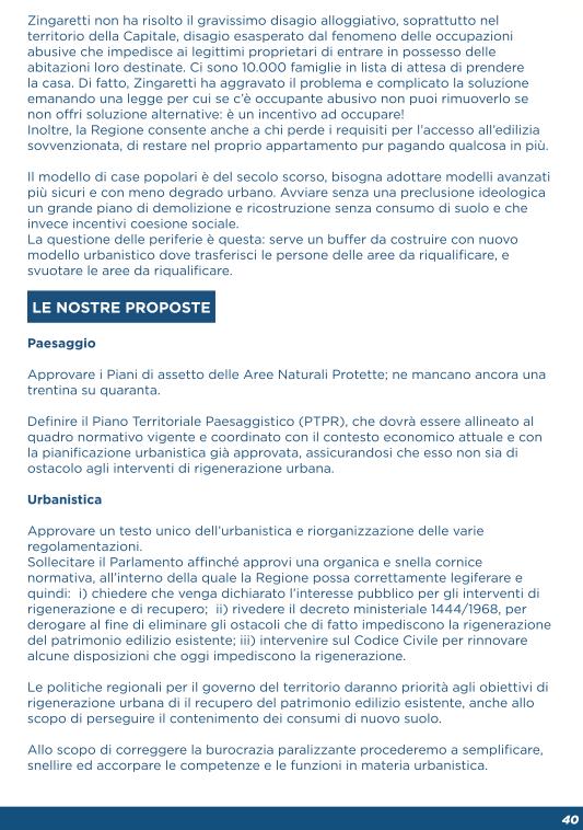 programma Parisi urbanistica 2018 2