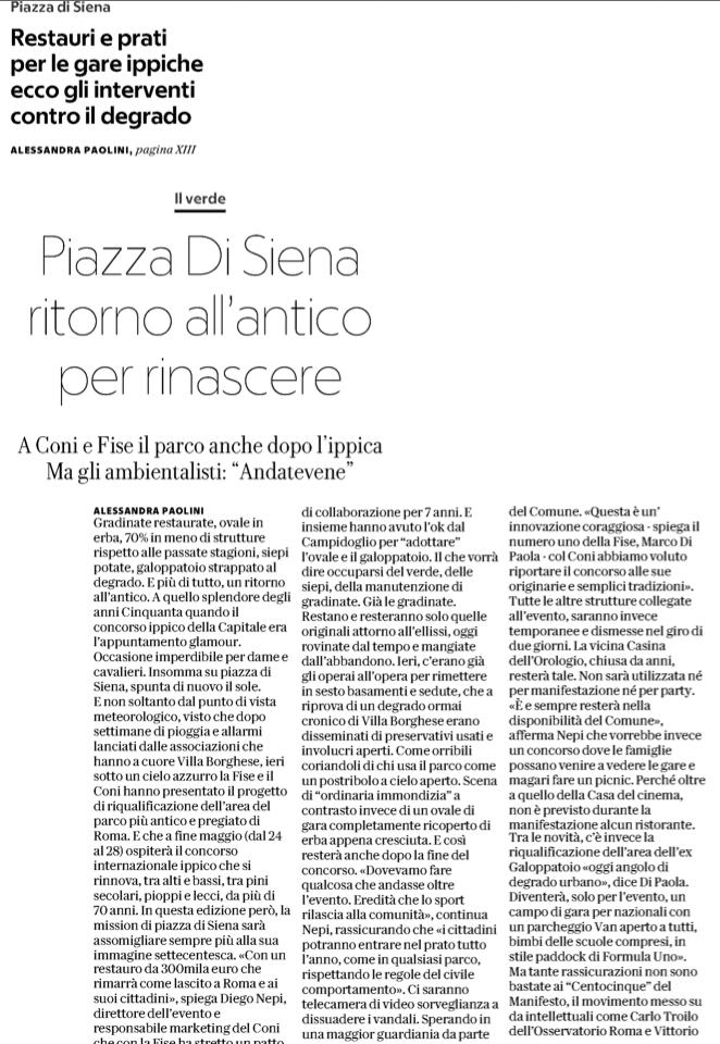 repubblica Piazza di Siena 25 marzo 2018 1
