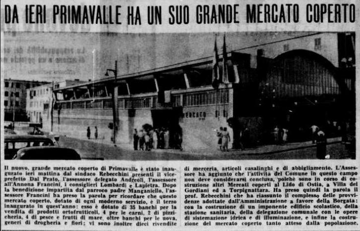 da primavalleinrete il popolo mercato primavalle 26 luglio 1955