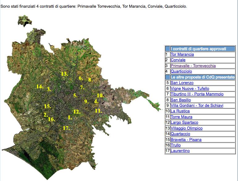 mappa contrati di quartiere sito dip comune roma