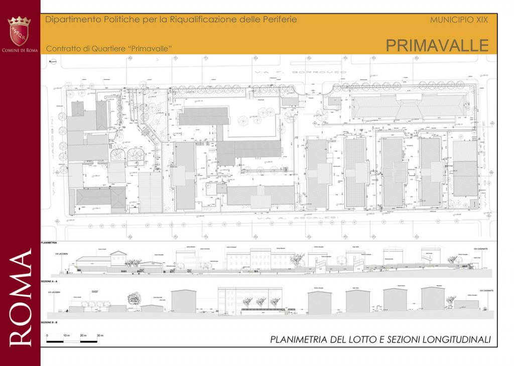 primavalle planimetria lotto - contratto quartiere sito comune