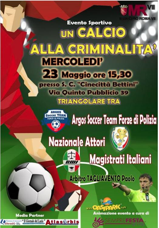 calcio alla criminalita 23 maggio 2018