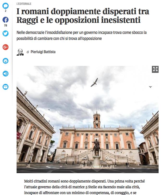 corriere 28 giugno 2018 battista su opposizioen a roma