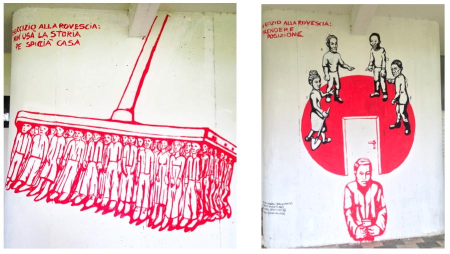 murales sciopero alla rovescia