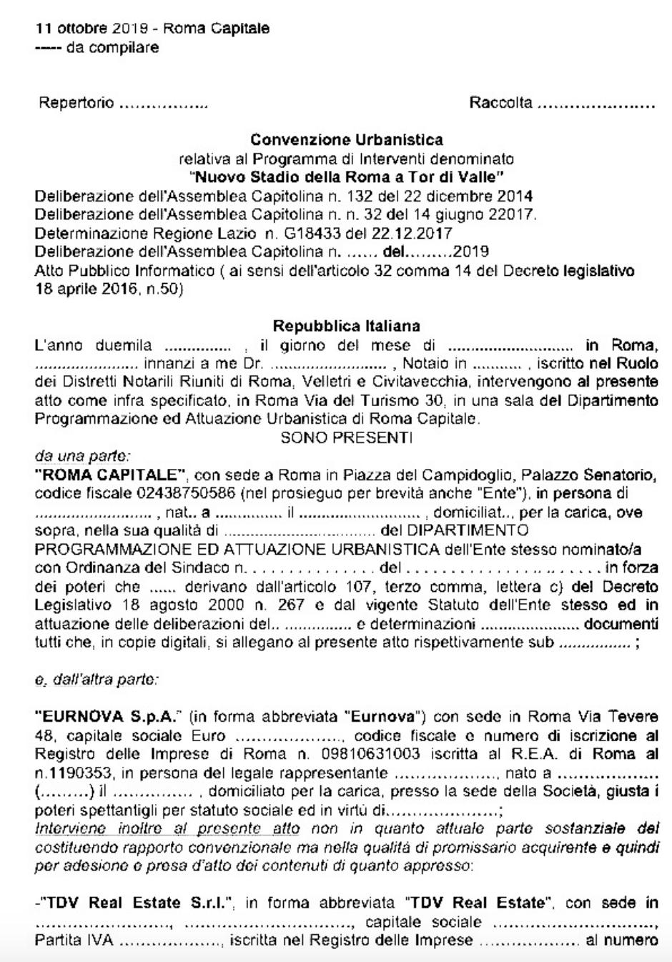 Bozza convenzione stadio pubblicata da Athos o della limpidezza Schermata 2019-10-27 alle 21.17.46