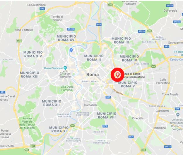 mappa roma con casal bertone