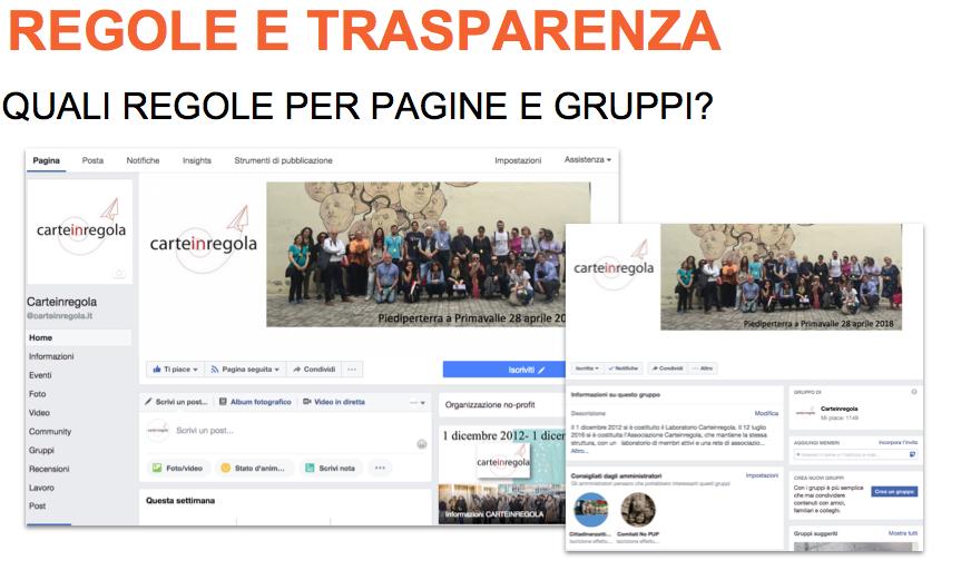 FB REGOLE E TRASPARENZA