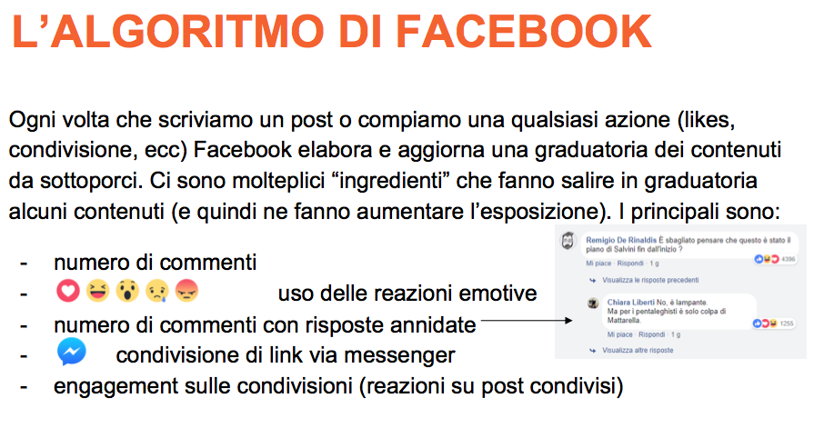 Facebook e C ALGORITMO